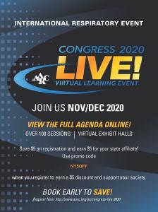 Congress 2020 NYSSRC Promo code